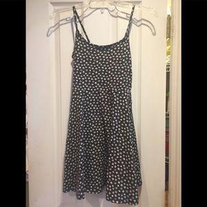 Divided H&M Dress Black White Flowers XS